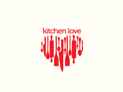 Logo design samples 45 heart and love logo designs for Kitchen design logo