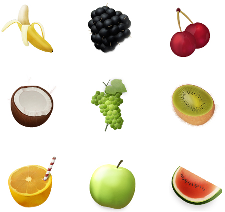 Fruit in 50 New Free High-Quality Icon Sets (with Easter Icons!)