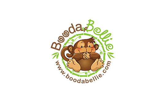 baby monkey logo design