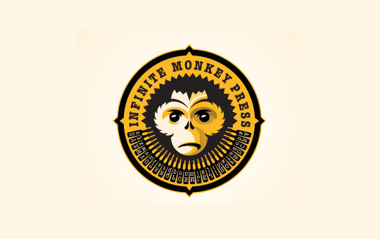 circular monkey logo design