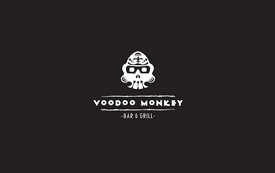 monkey in mask logo design