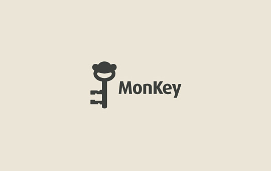 key as monkey logo design