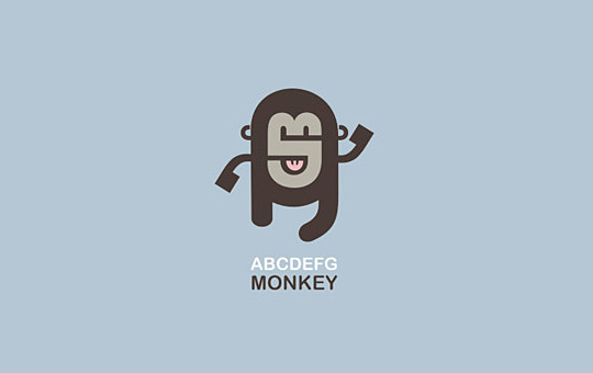 dancing monkey logo design