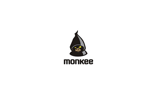 monkey in the hood logo design